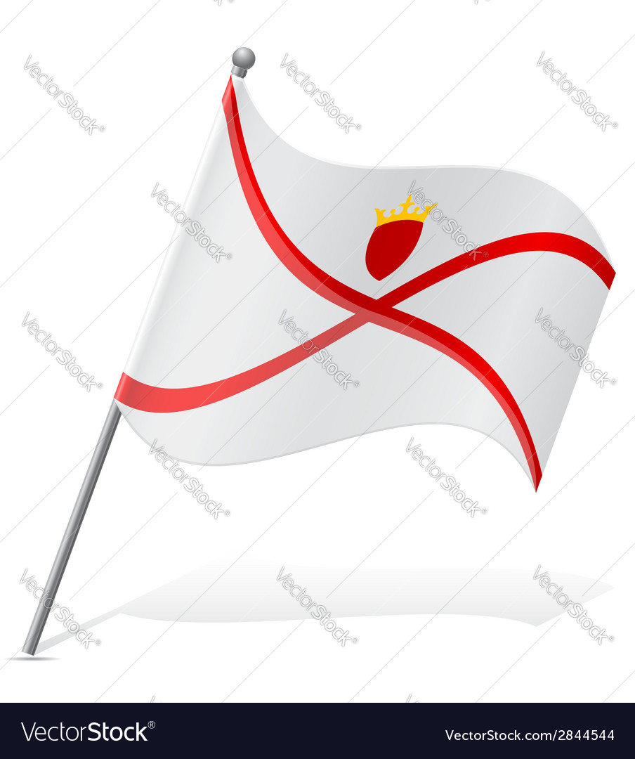 Flag of jersey vector | Price: 1 Credit (USD $1)