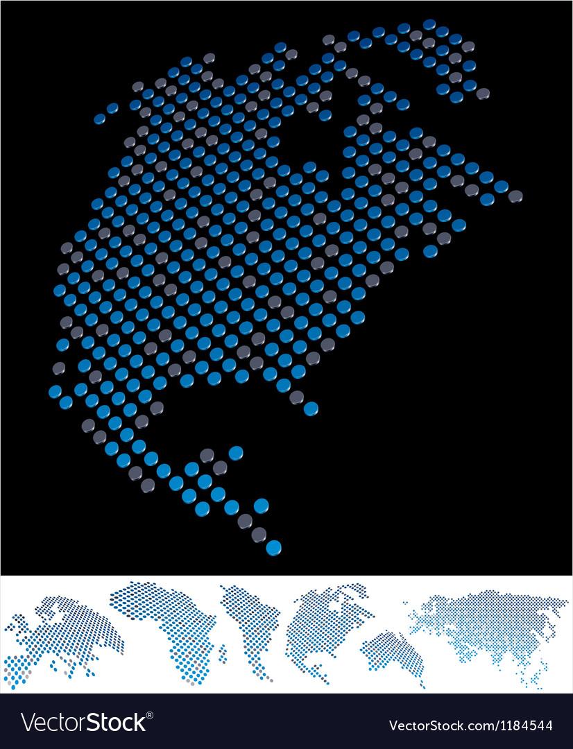 Map dot america north vector | Price: 1 Credit (USD $1)