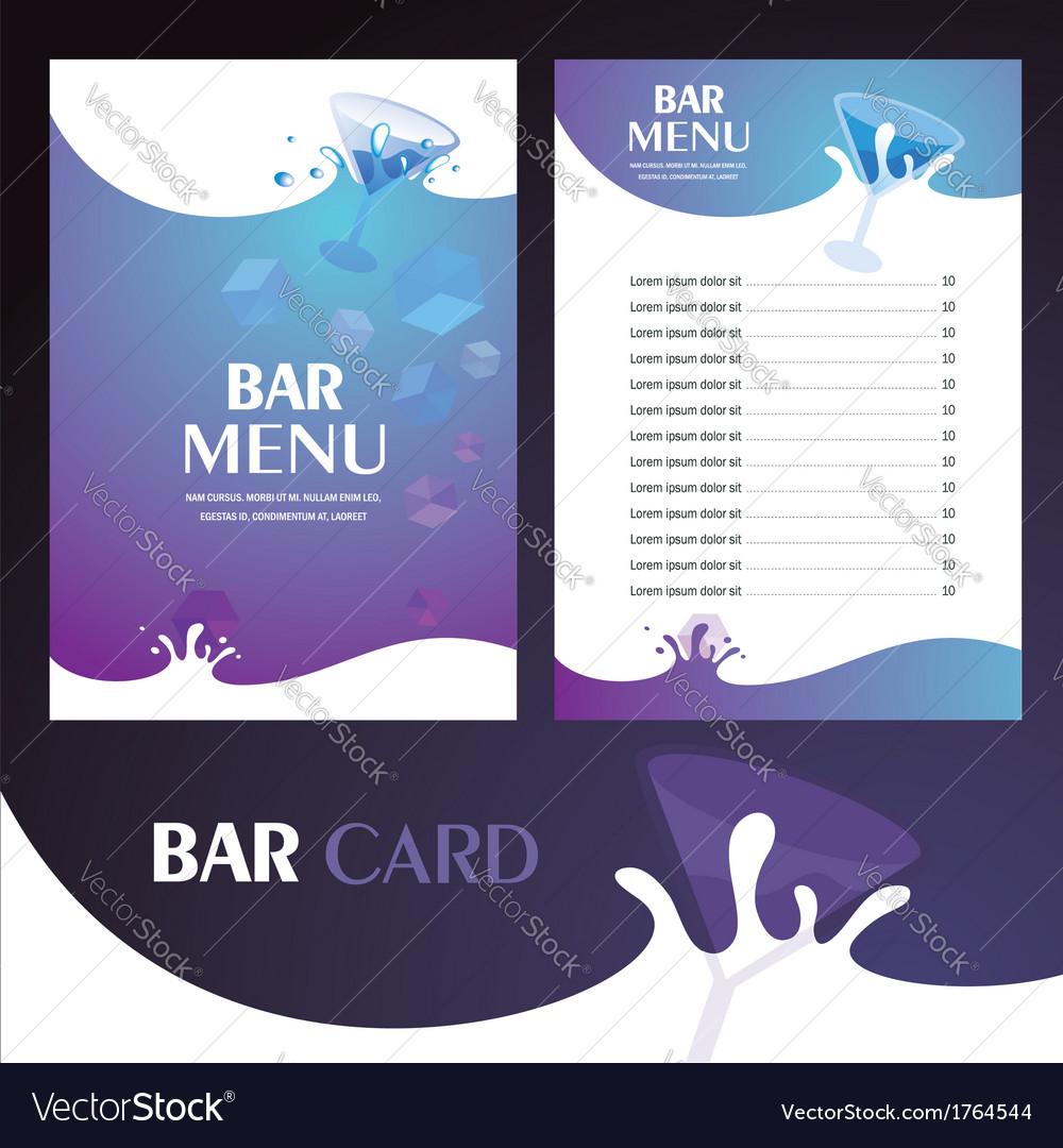 Menu bar card vector   Price: 1 Credit (USD $1)