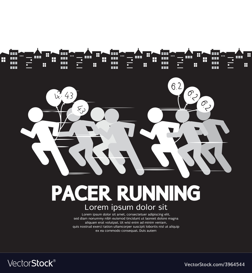 Pacer running with balloons symbol vector | Price: 1 Credit (USD $1)