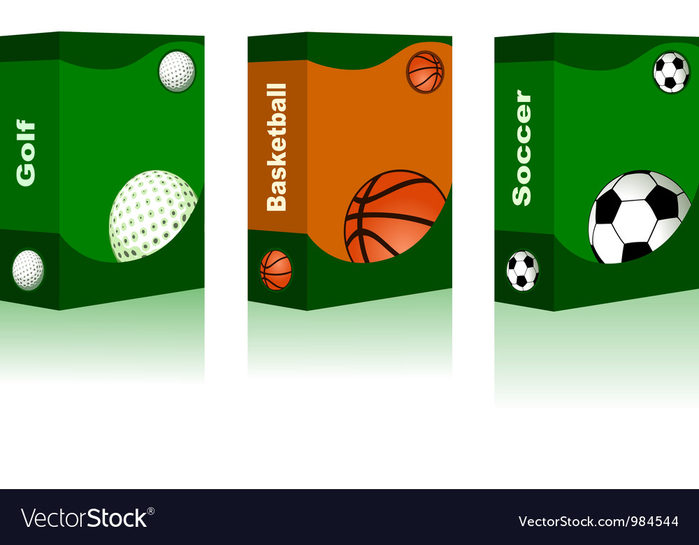 Sport box - golf basketball soccer ball vector | Price: 1 Credit (USD $1)