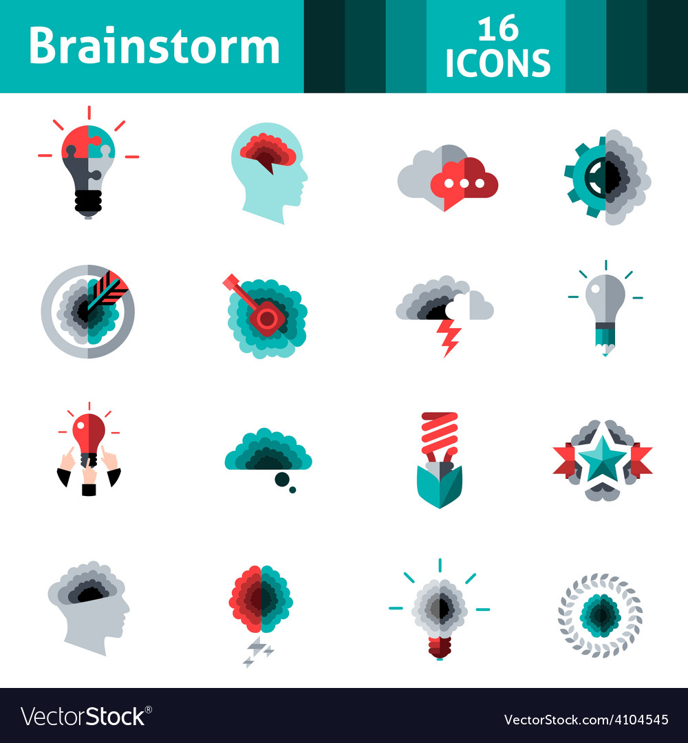 Brainstorm icons set vector | Price: 1 Credit (USD $1)