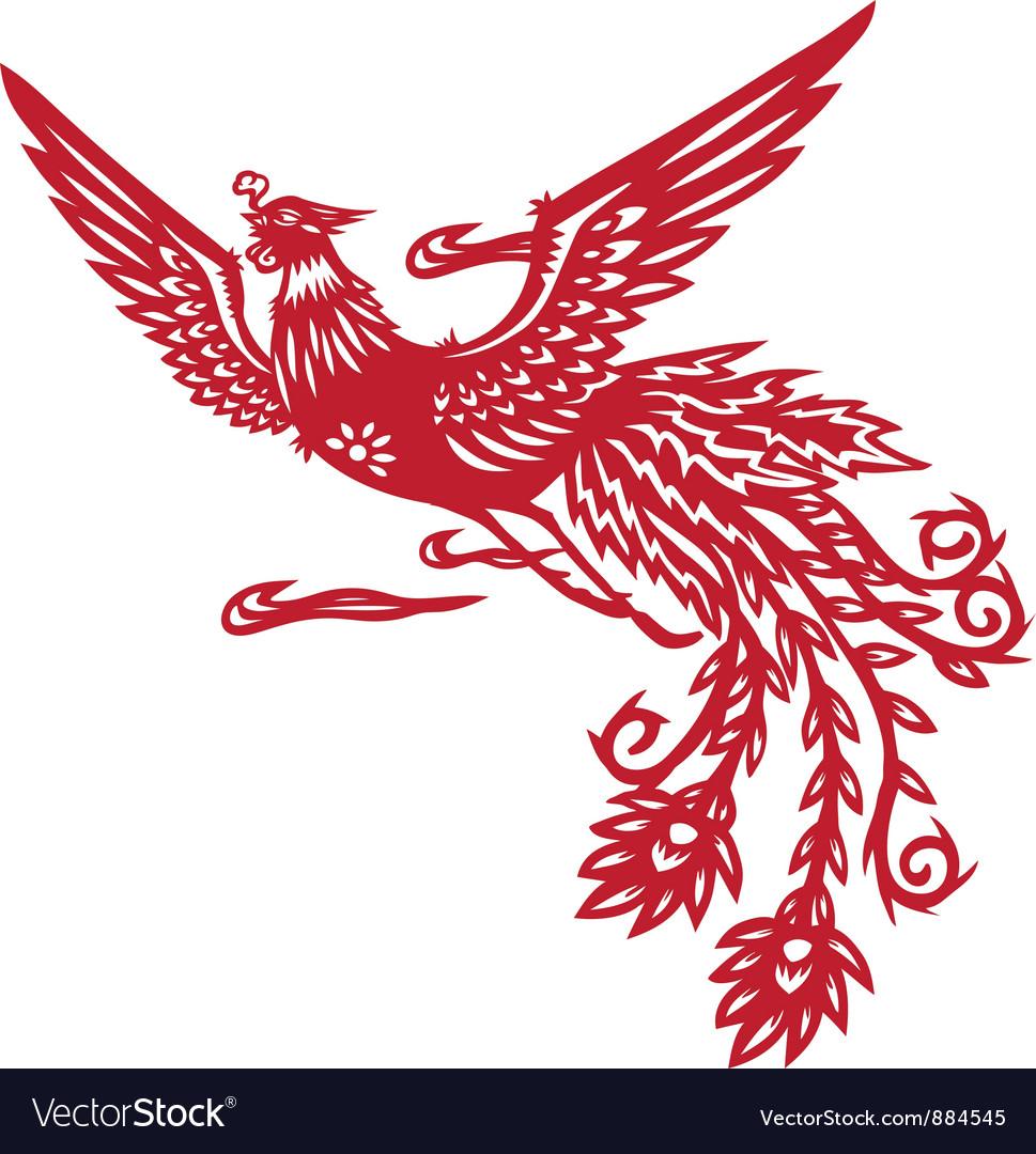 Chinese phoenix vector | Price: 1 Credit (USD $1)