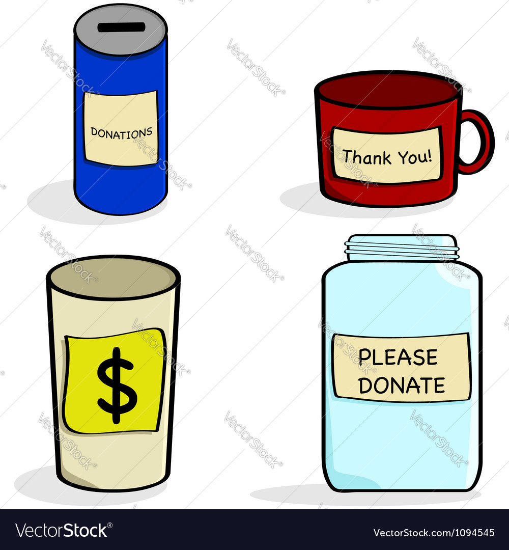 Donation cups and jar vector | Price: 1 Credit (USD $1)