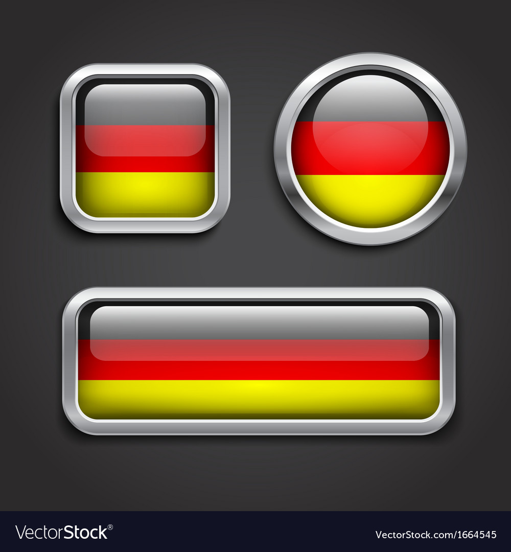 Germany flag glass buttons vector | Price: 1 Credit (USD $1)