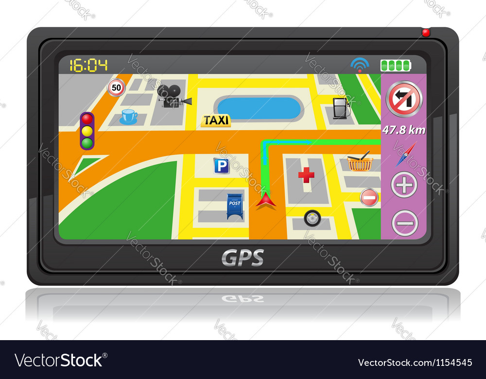 Gps navigator 04 vector | Price: 1 Credit (USD $1)