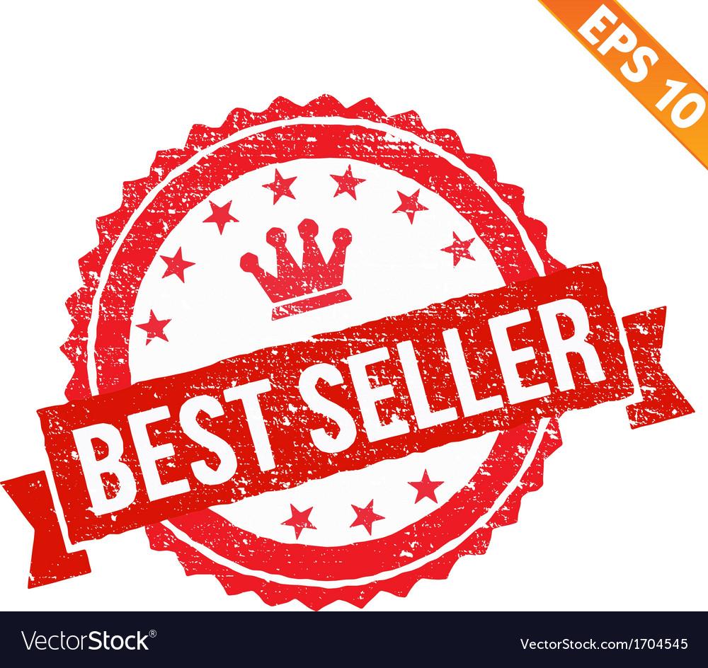 Grunge best seller guarantee rubber stamp - vector | Price: 1 Credit (USD $1)