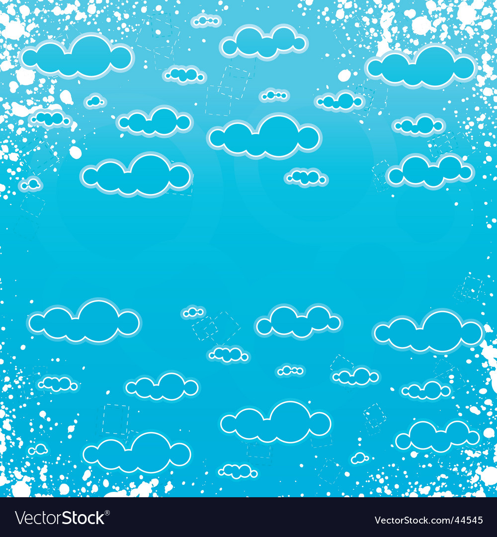 Grunge retro cloudscape frame vector | Price: 1 Credit (USD $1)