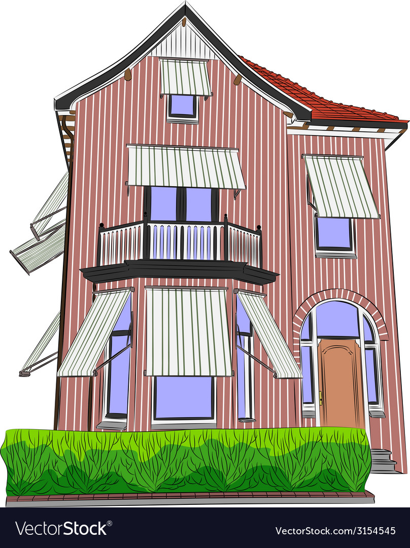 House 3 vector | Price: 1 Credit (USD $1)
