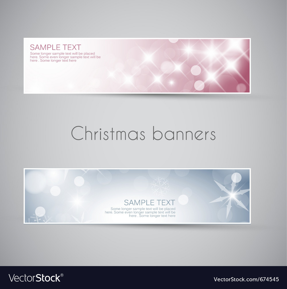 New year horizontal banners vector | Price: 1 Credit (USD $1)
