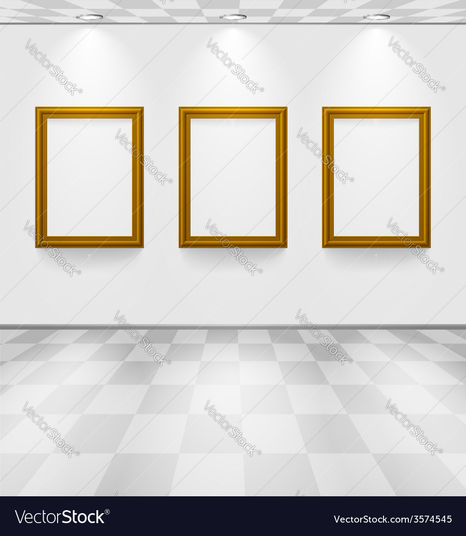 Room with three frames vector | Price: 1 Credit (USD $1)