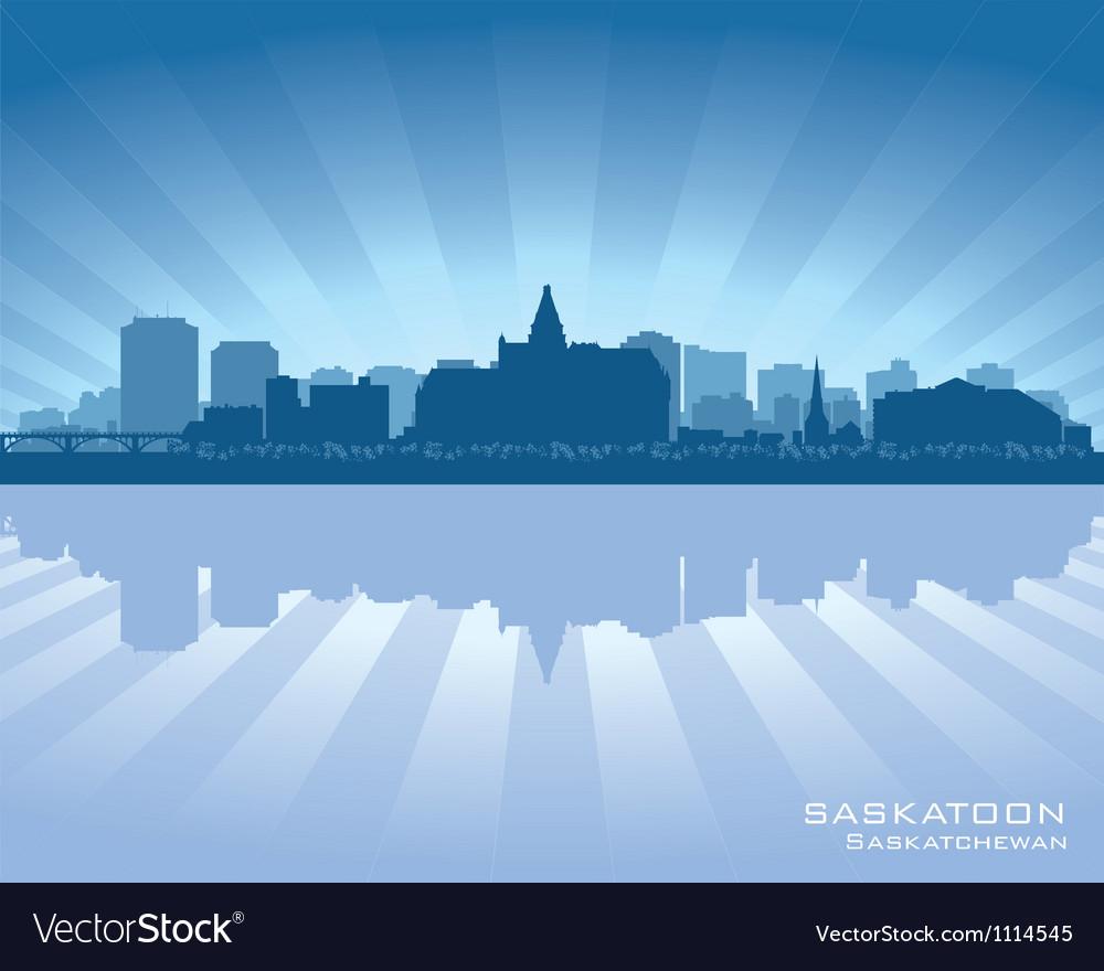 Saskatoon canada skyline silhouette vector | Price: 1 Credit (USD $1)