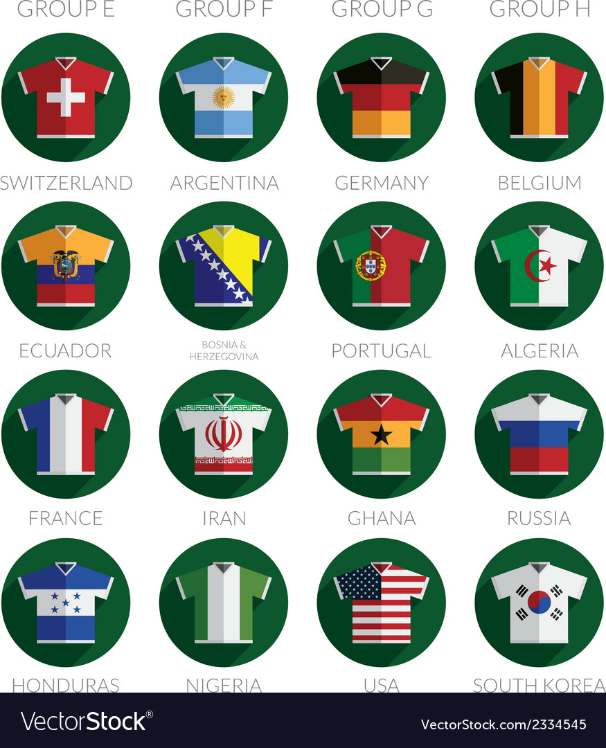 Soccer flag shirt icons vector | Price: 1 Credit (USD $1)
