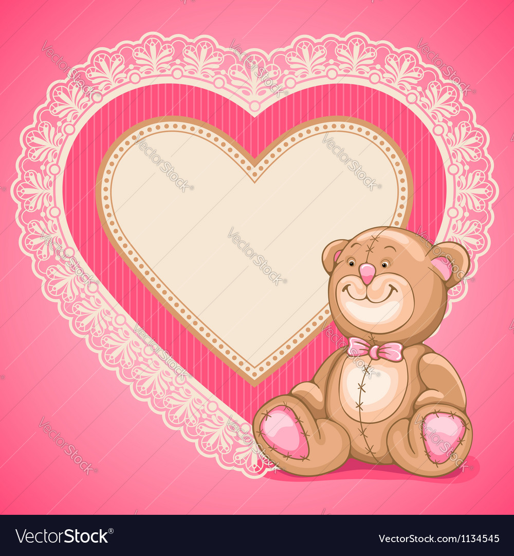 Teddy bear toy vector | Price: 3 Credit (USD $3)