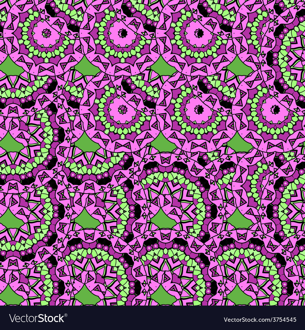 Violet coloured oriental ornate seamless pattern vector | Price: 1 Credit (USD $1)
