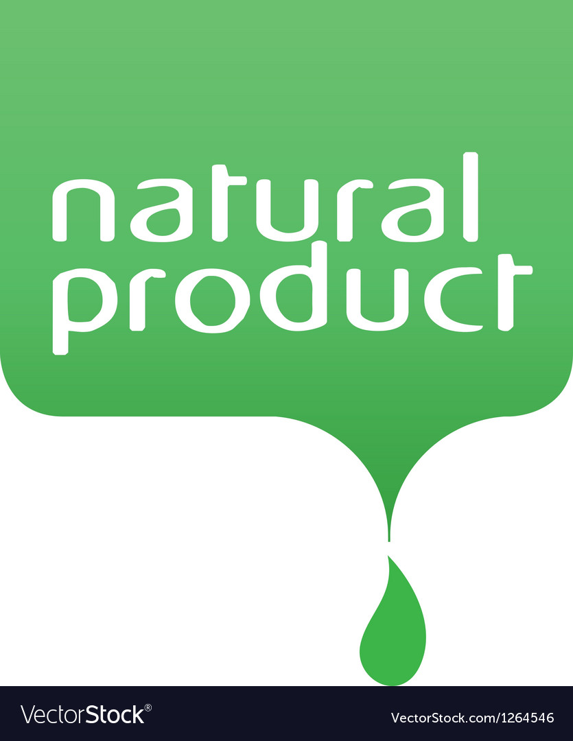 Conceptual drop of the natural product vector | Price: 1 Credit (USD $1)
