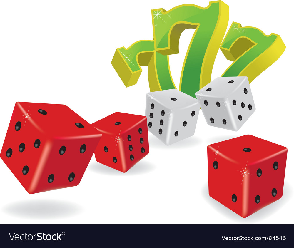 Five dice and lucky sevens vector | Price: 1 Credit (USD $1)