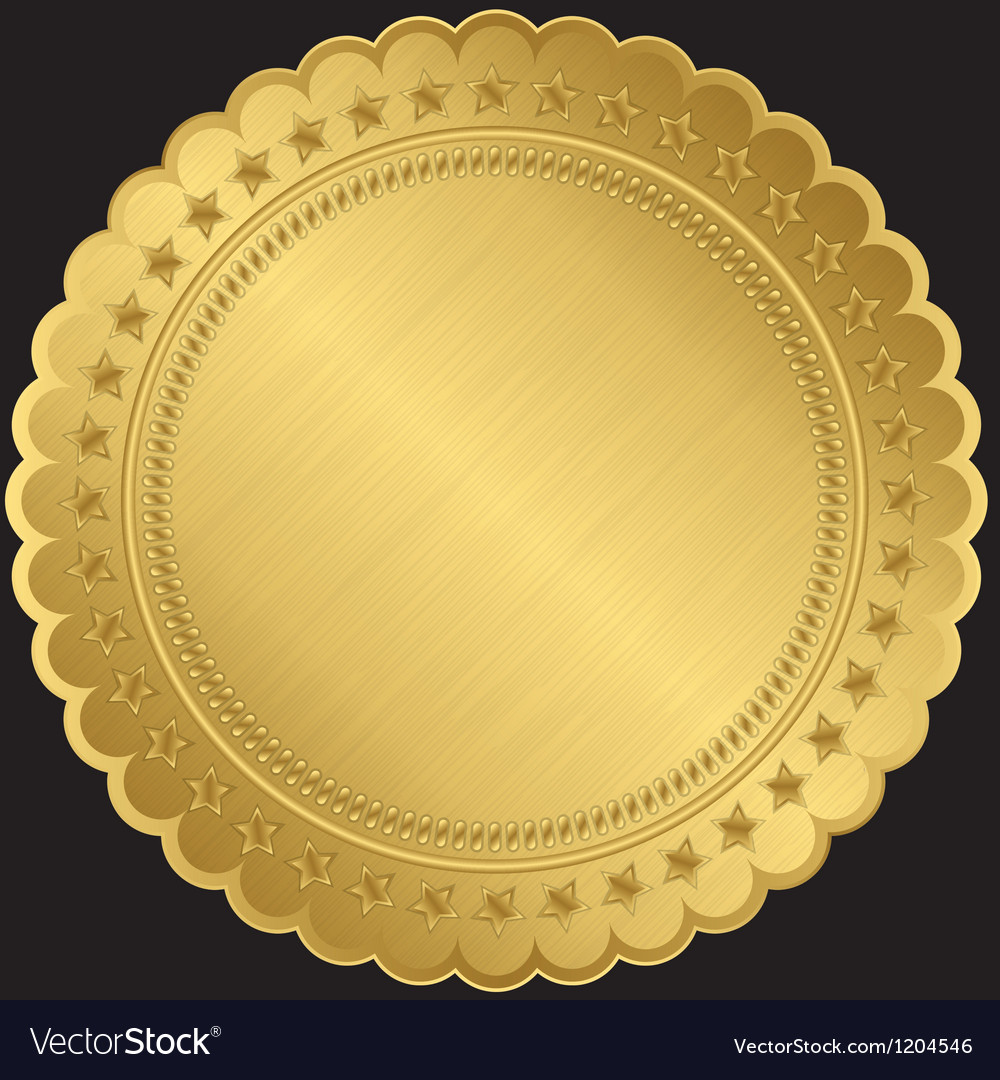 Golden blank label vector | Price: 1 Credit (USD $1)