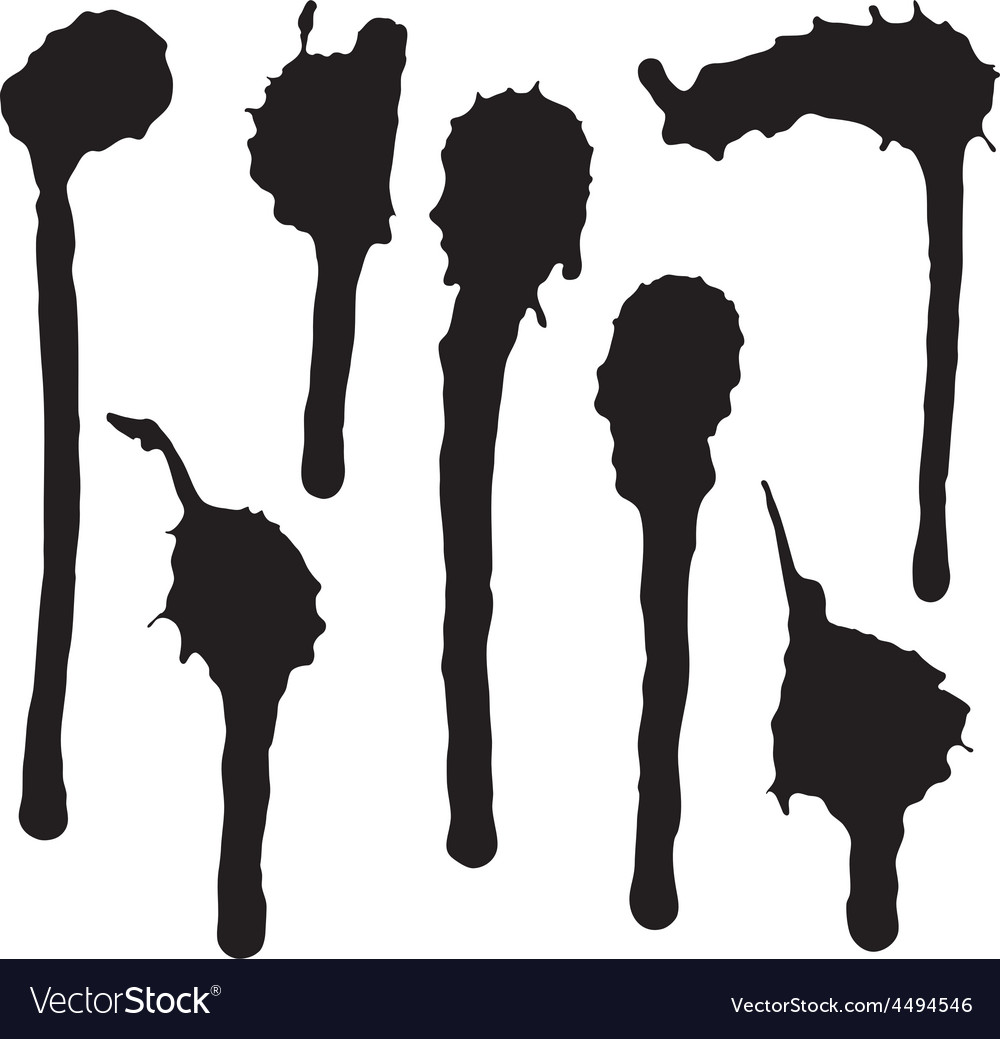Ink blot collection vector | Price: 1 Credit (USD $1)