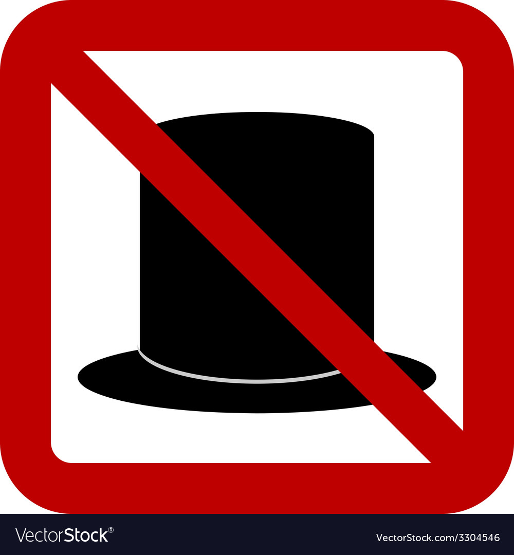 No hat sign vector | Price: 1 Credit (USD $1)