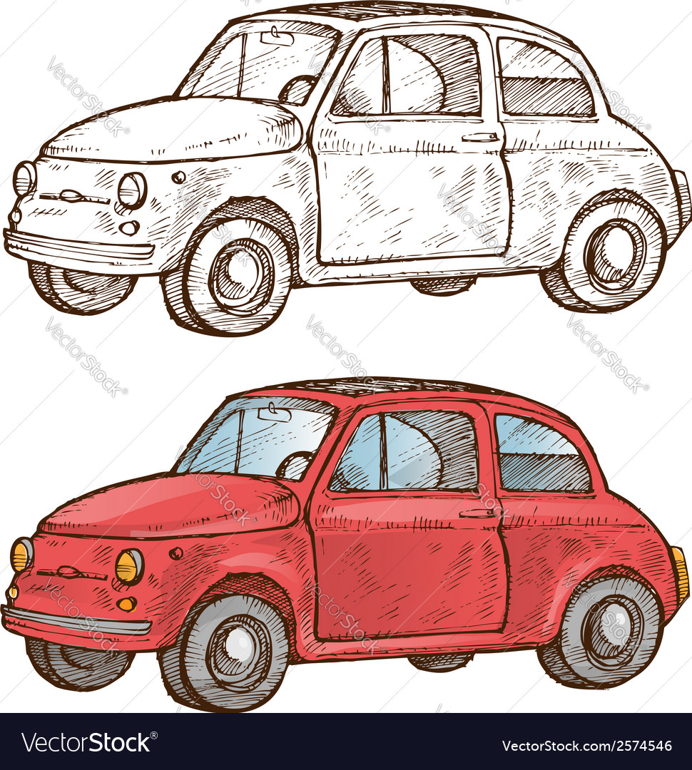Old italian car vector | Price: 1 Credit (USD $1)