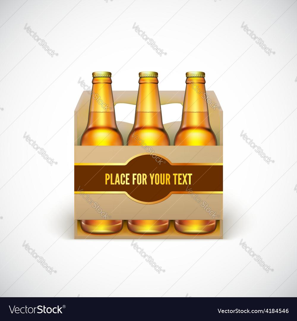 Packaging of beer vector | Price: 3 Credit (USD $3)
