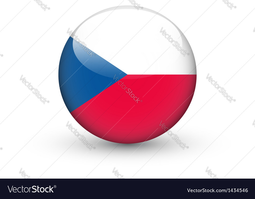Round icon with flag of the czech republic vector | Price: 1 Credit (USD $1)