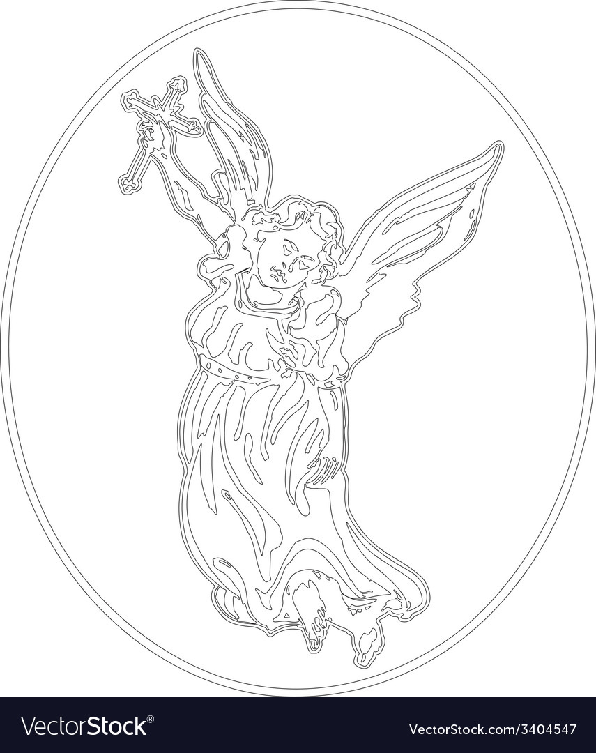 Angel with cross vector | Price: 1 Credit (USD $1)