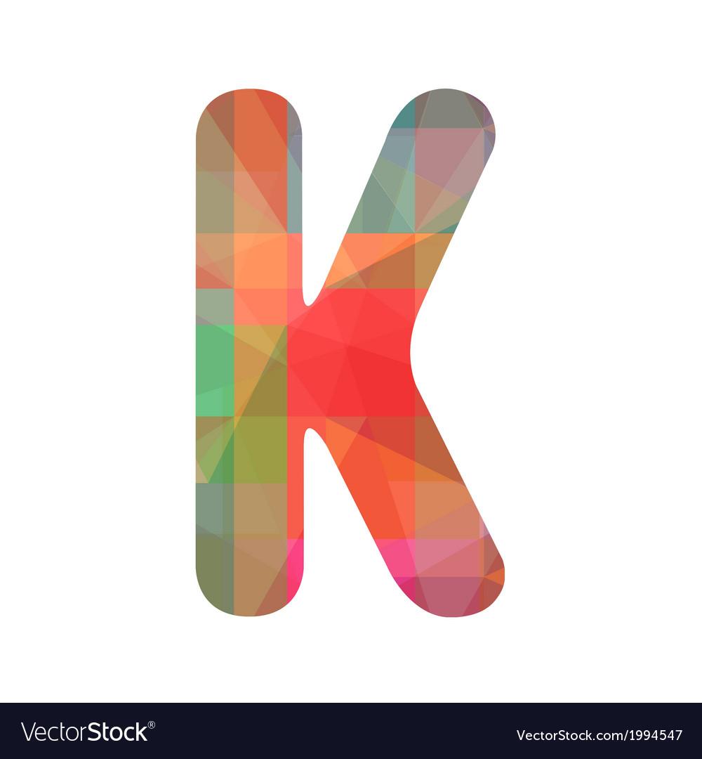 Colorful alphabet k vector | Price: 1 Credit (USD $1)