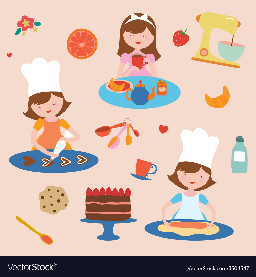 Cooking and baking set vector | Price: 1 Credit (USD $1)