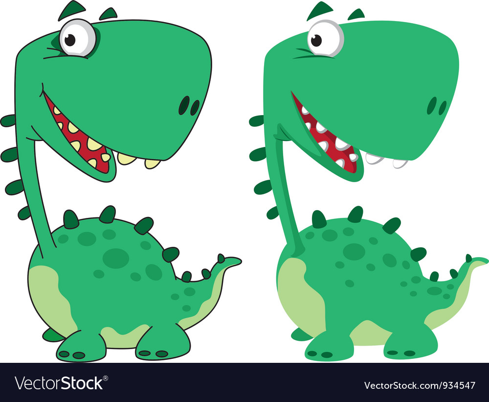 Dino cartoon funny vector | Price: 1 Credit (USD $1)