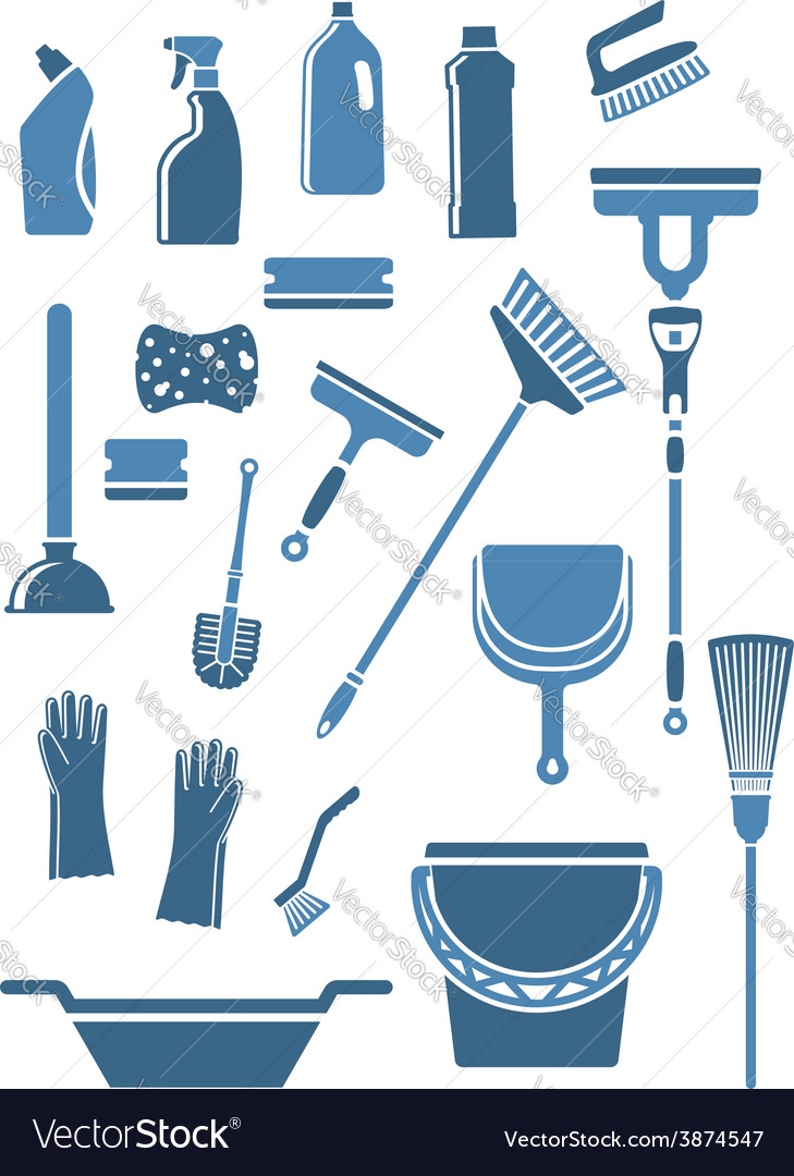 Domestic cleaning tools and supplies vector | Price: 1 Credit (USD $1)