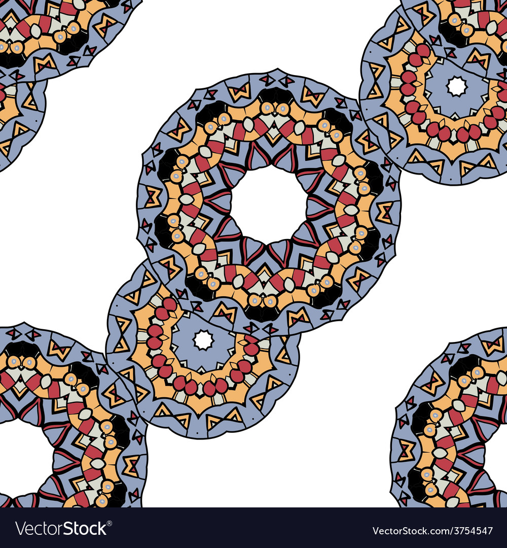 Gray mandalas in line over white background vector | Price: 1 Credit (USD $1)