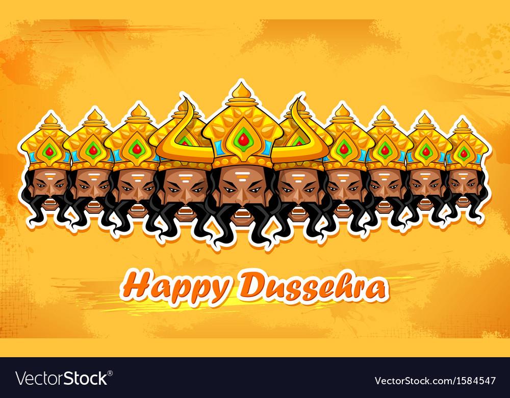 Happy dussehra vector | Price: 1 Credit (USD $1)