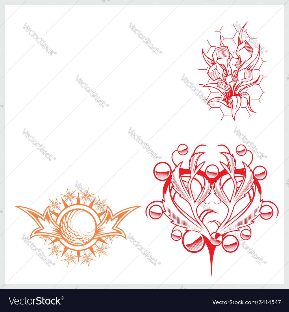 Hearts design for tattoo vector | Price: 1 Credit (USD $1)