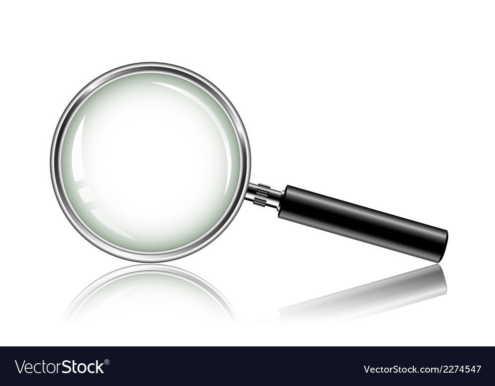 Metal magnifying glass vector | Price: 1 Credit (USD $1)