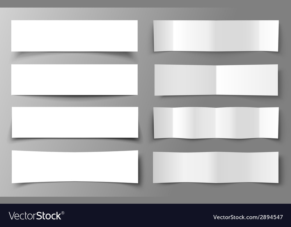Set of 8 paper banners with shadows vector | Price: 1 Credit (USD $1)