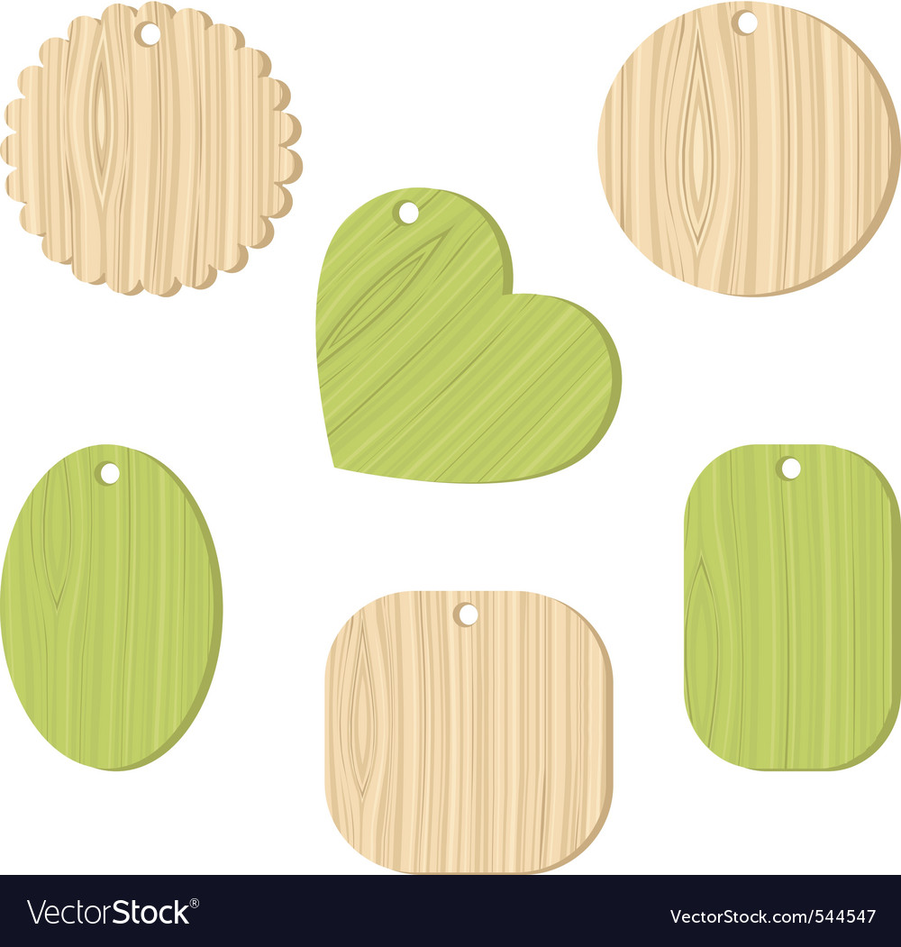 Tag with a wooden texture vector | Price: 1 Credit (USD $1)