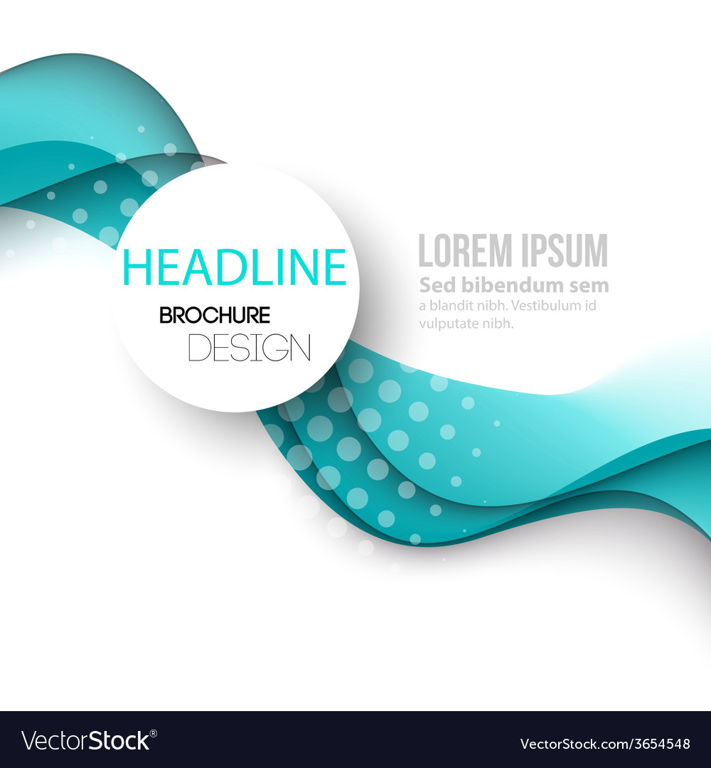 Abstract curved lines background template brochure vector | Price: 1 Credit (USD $1)