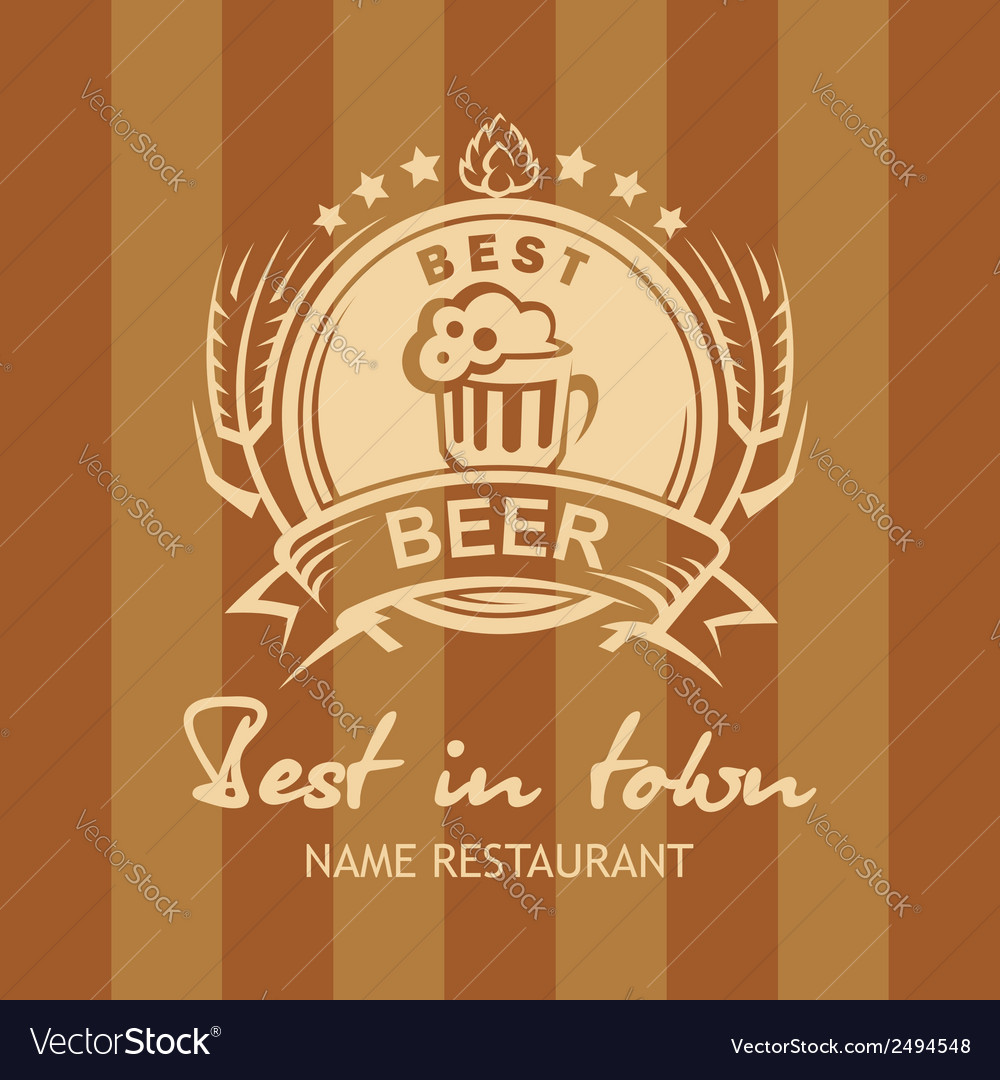 Banner with beer label vector | Price: 1 Credit (USD $1)