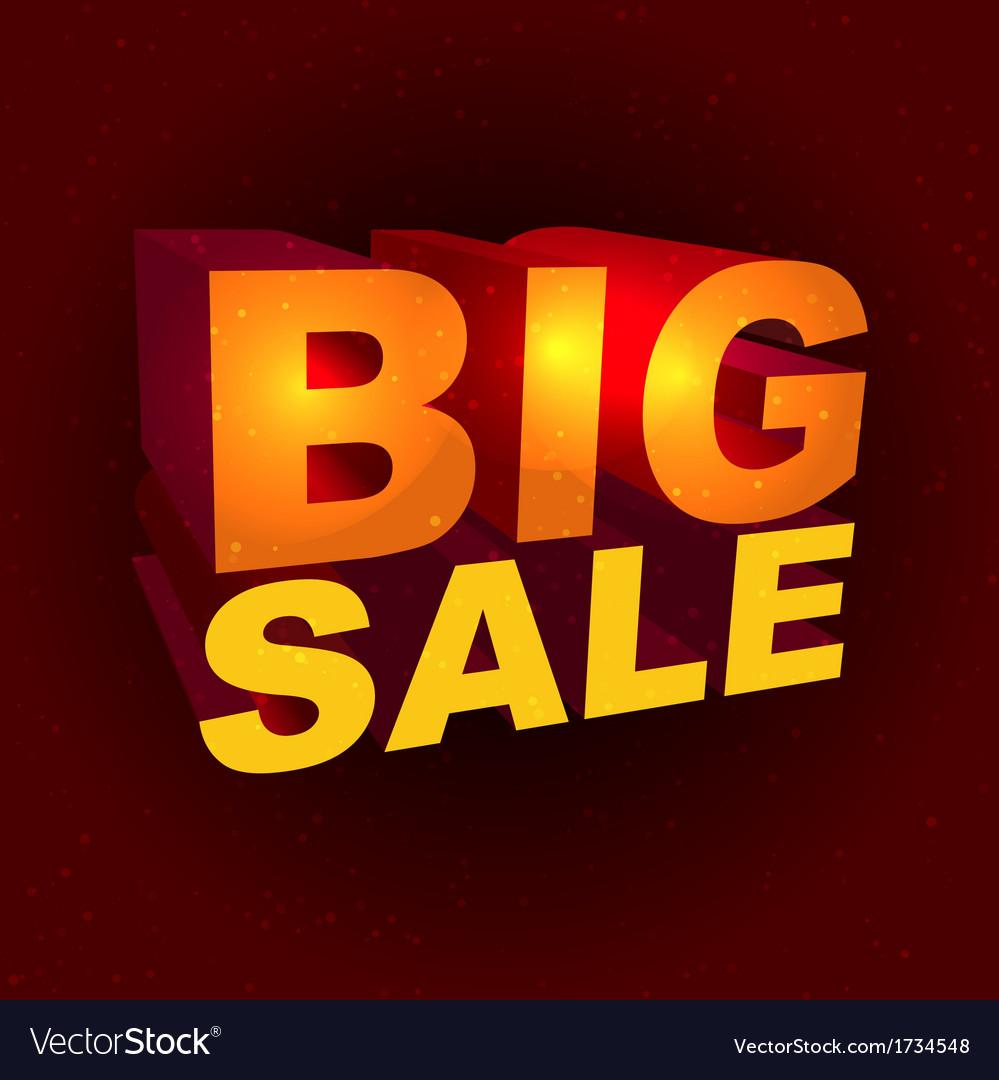 Big sale label vector   Price: 1 Credit (USD $1)