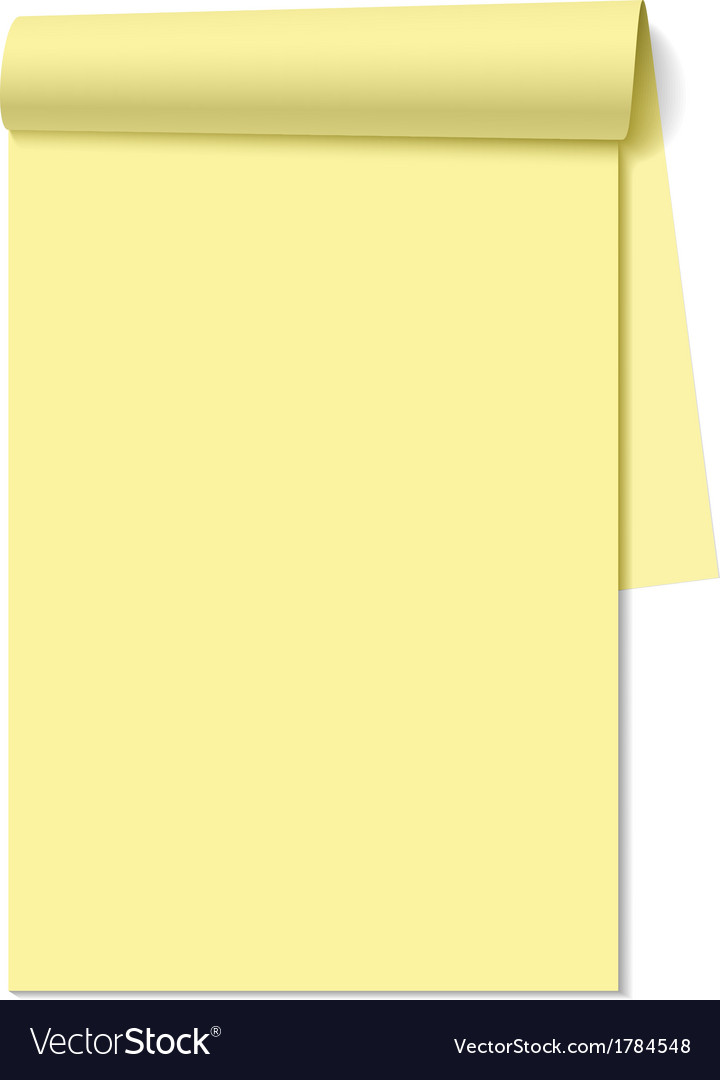 Blank notepad notebook vector | Price: 1 Credit (USD $1)