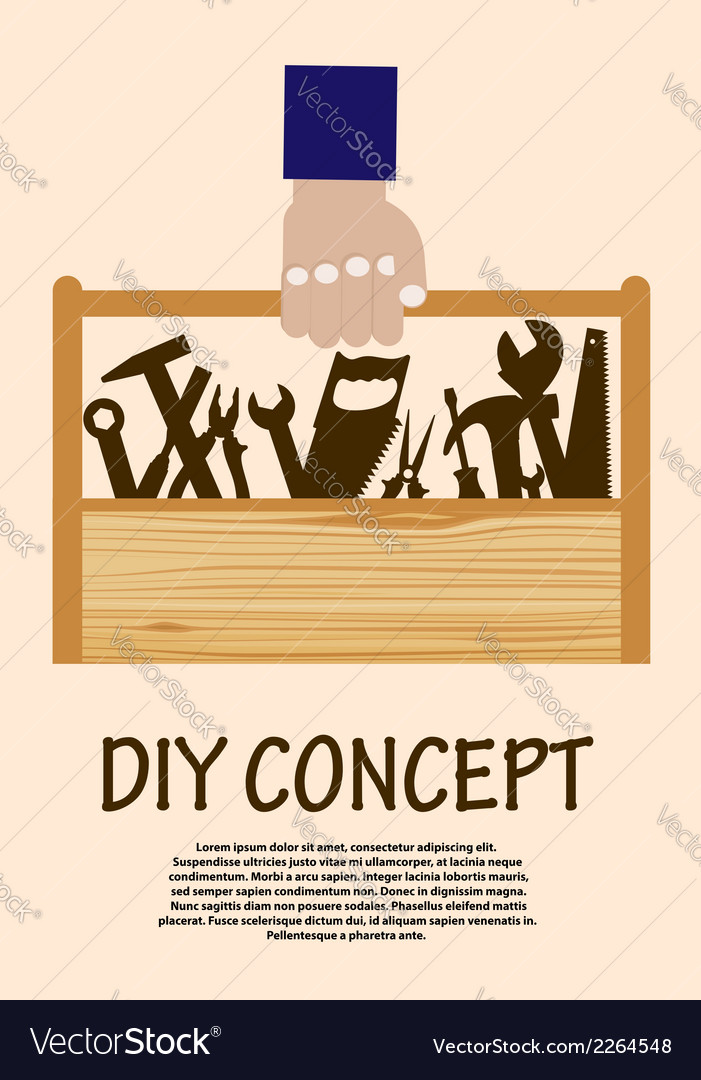 Diy concept with toolbox vector | Price: 1 Credit (USD $1)
