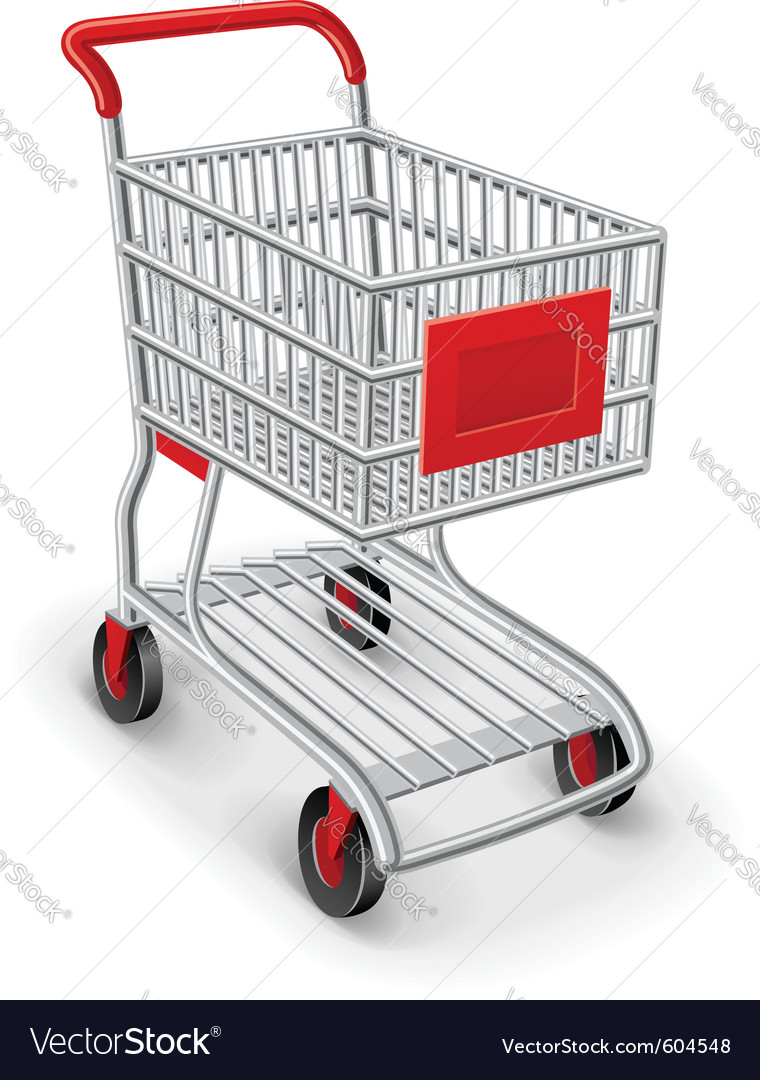 Empty shopping cart vector | Price: 3 Credit (USD $3)