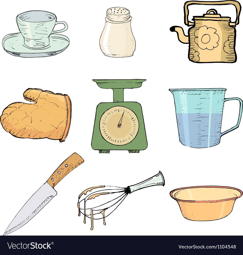 Kitchen objects vector | Price: 1 Credit (USD $1)