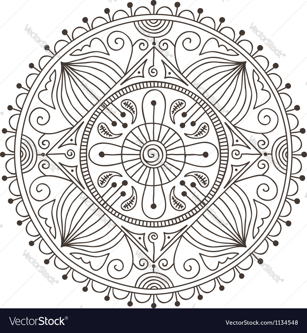 Mandala doodle vector | Price: 1 Credit (USD $1)