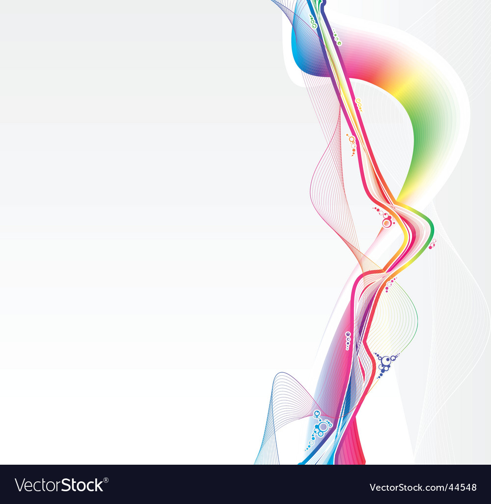 Rainbow flows background vector | Price: 1 Credit (USD $1)