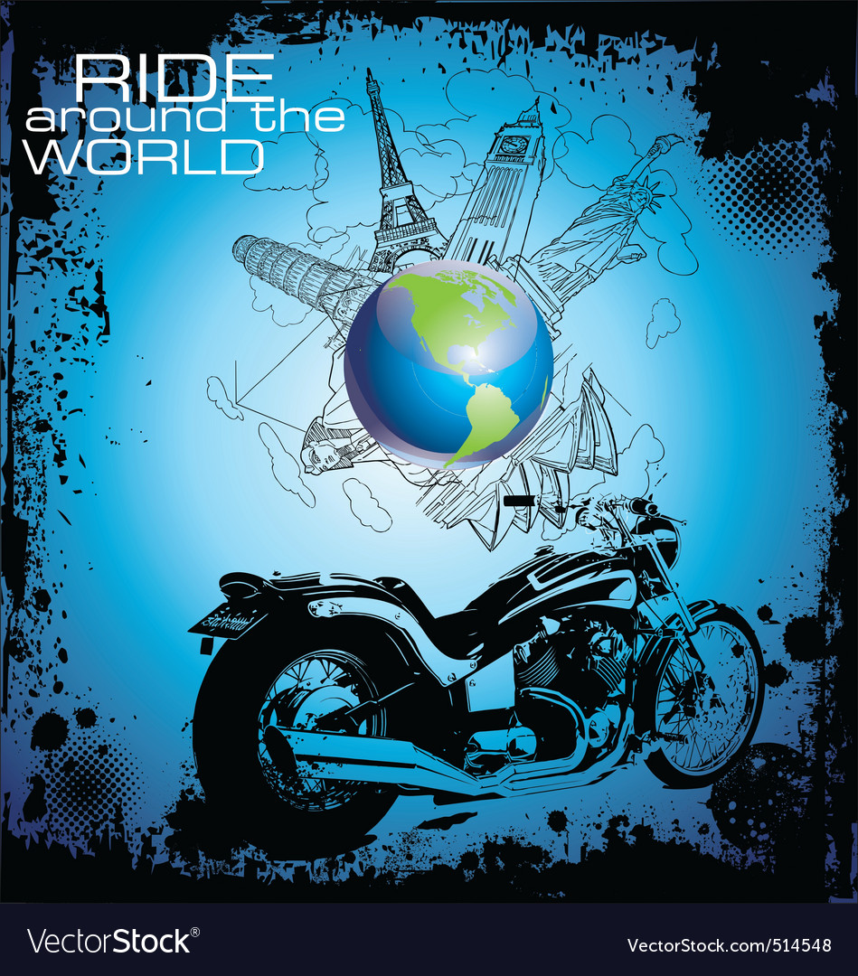 Ride around the world vector | Price: 1 Credit (USD $1)
