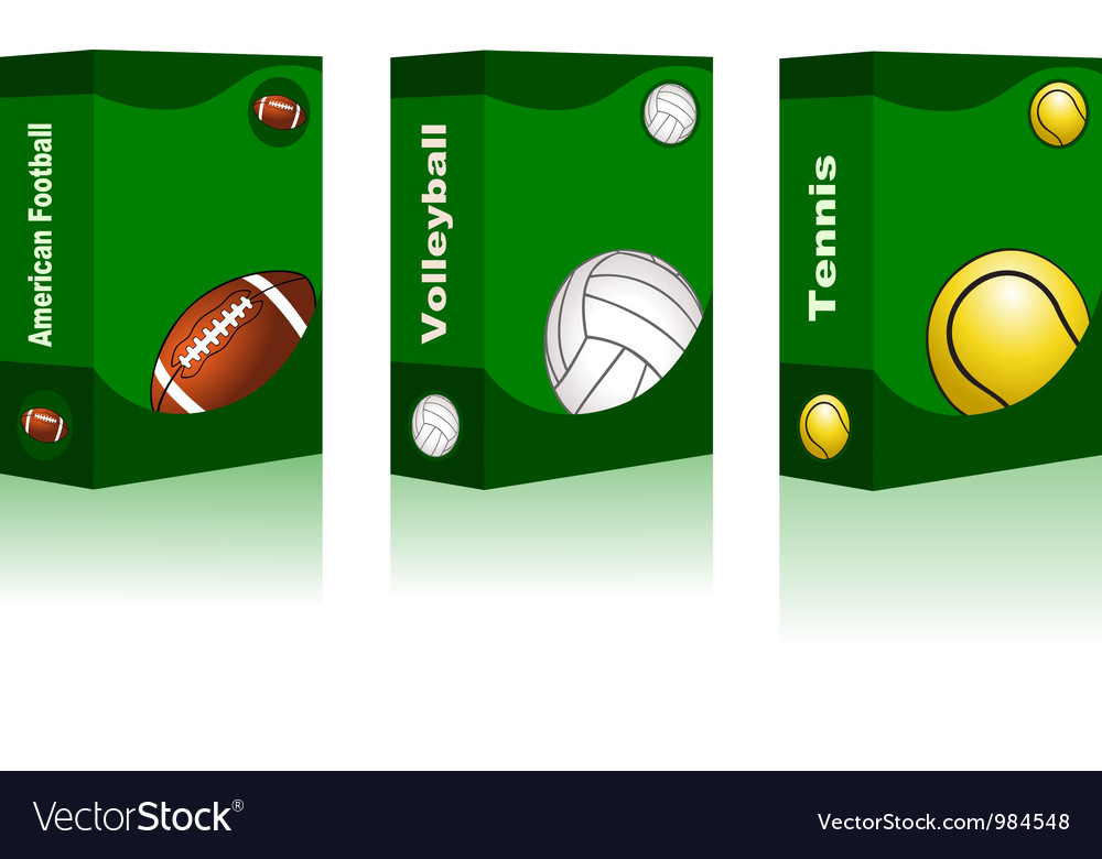 Sport box - american football volleyball tennis vector | Price: 1 Credit (USD $1)