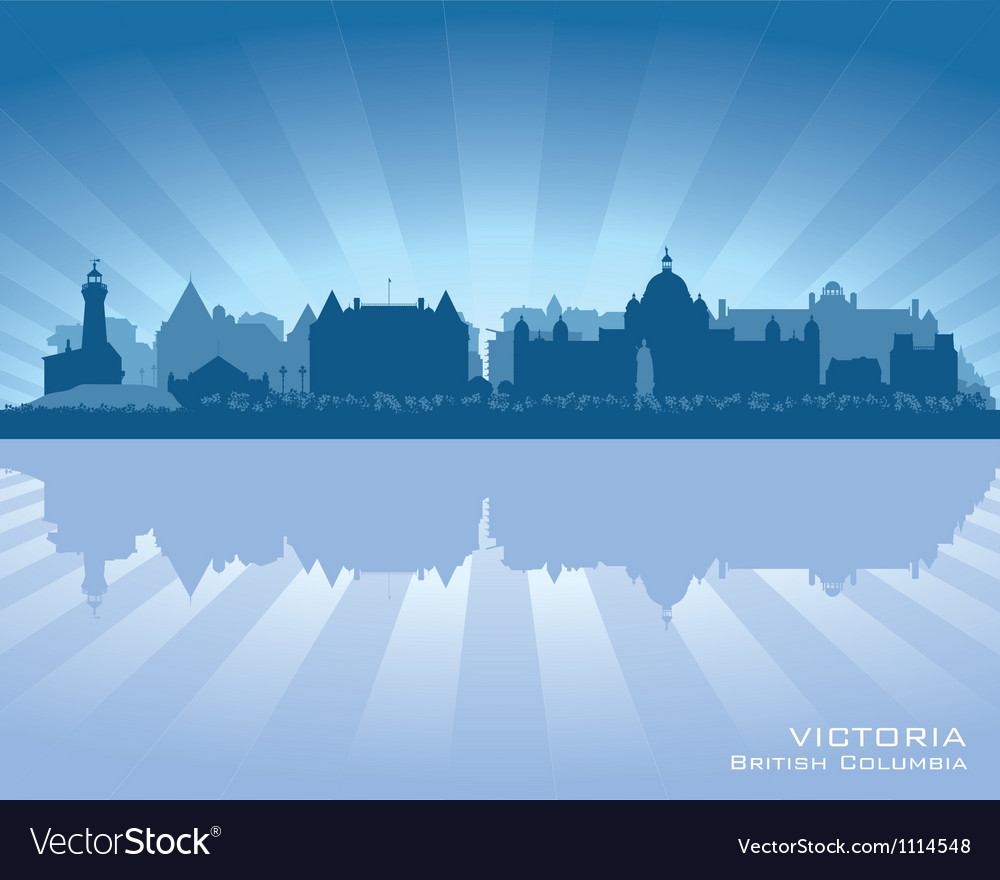 Victoria canada skyline silhouette vector | Price: 1 Credit (USD $1)